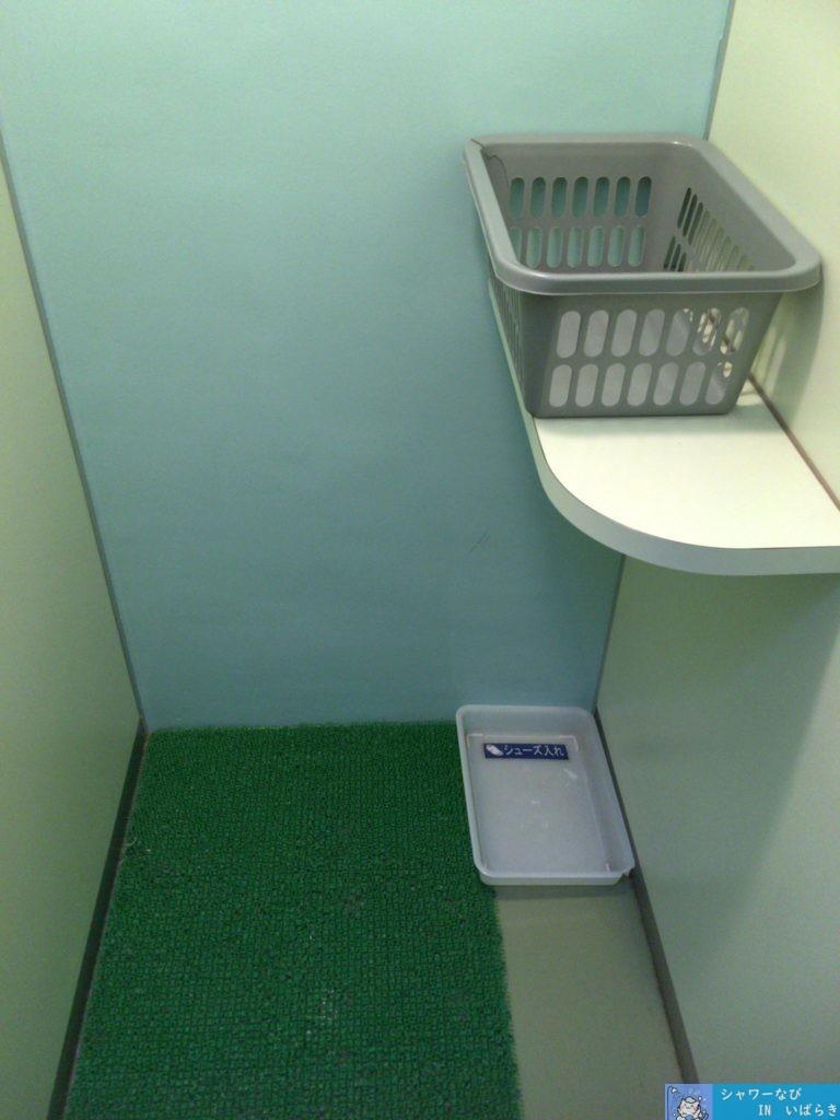 シャワー 個室 茨城 つくば市 洞峰公園 脱衣スペース