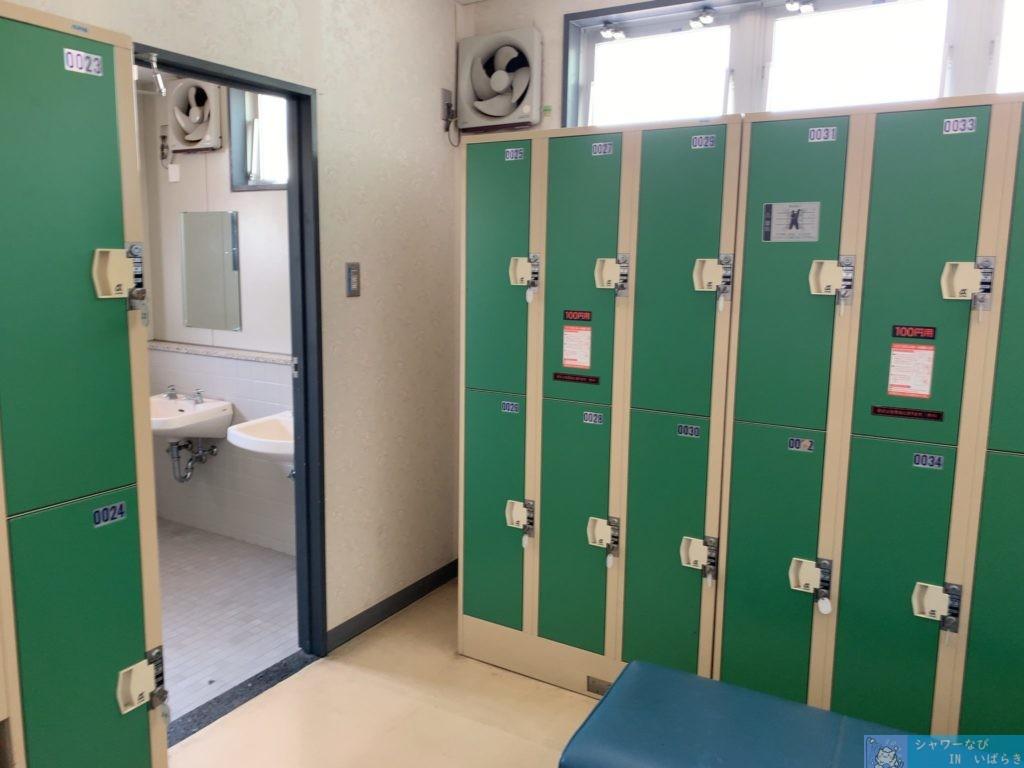 個室シャワー コインシャワー シャワー 茨城 水戸 運動総合公園 第二テニスコート ロッカー