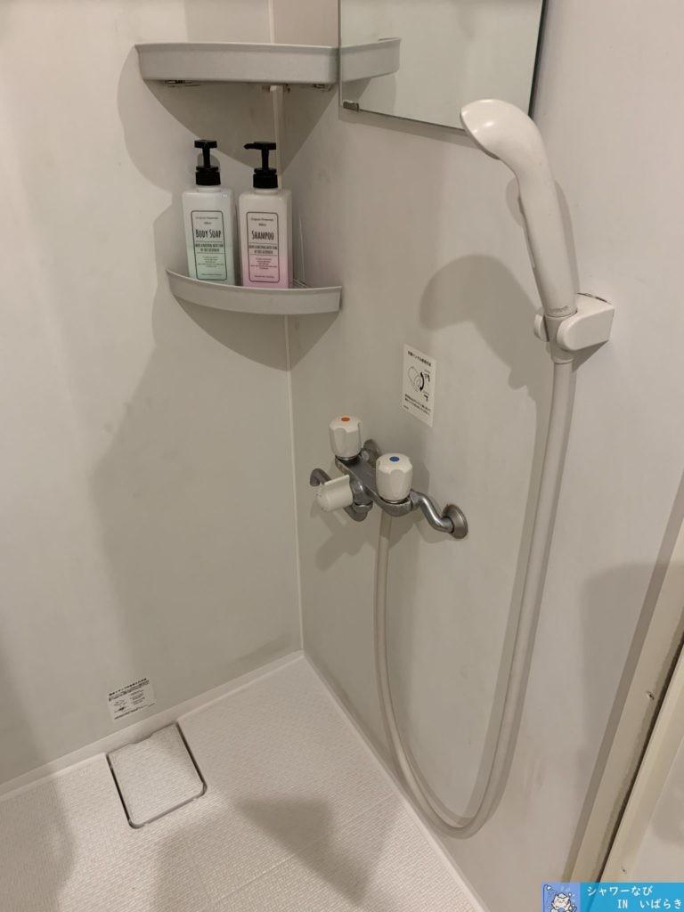 個室シャワー コインシャワー シャワー 茨城 竜ヶ崎  ネットカフェ サイベックス竜ヶ崎 シャワールーム内