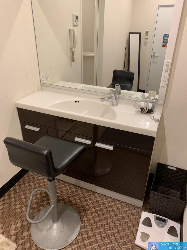 個室シャワー コインシャワー シャワー 茨城 竜ヶ崎  ネットカフェ サイベックス竜ヶ崎 洗面台
