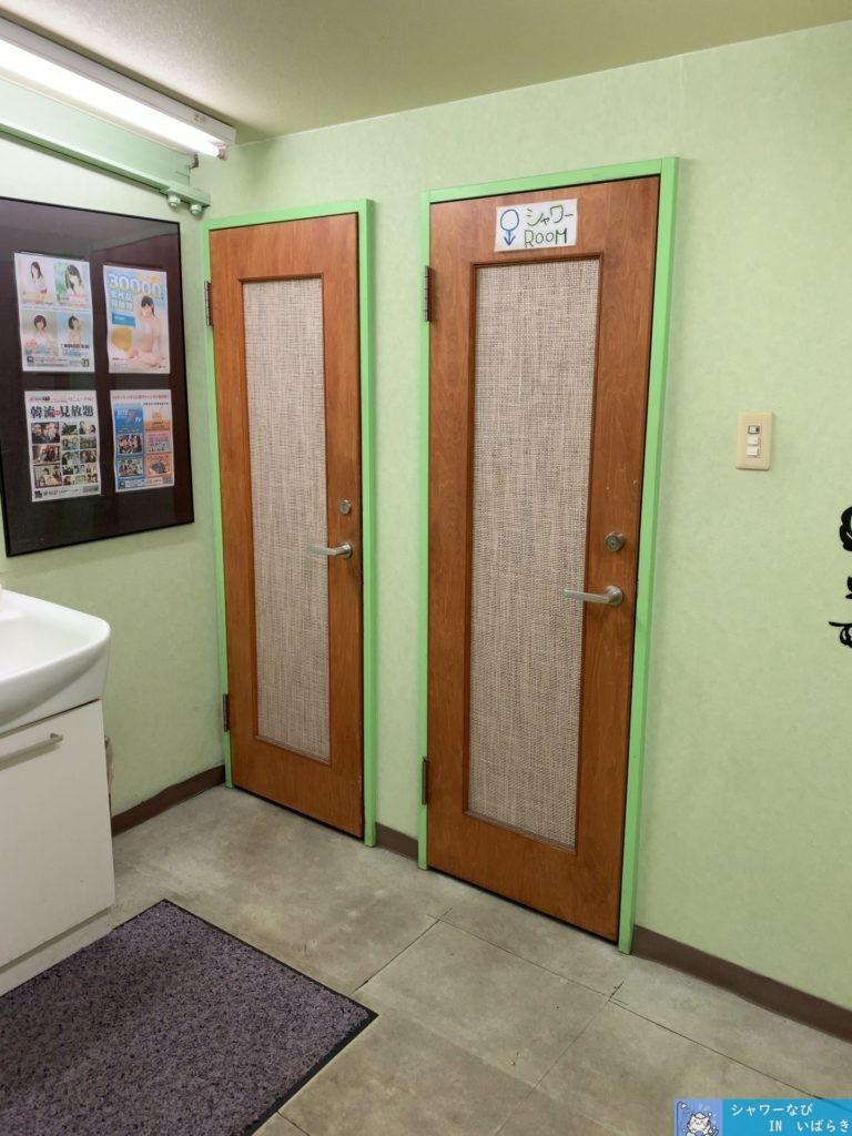 個室シャワー コインシャワー シャワー 茨城 水戸  ネットカフェ 秘密基地 シャワー入り口